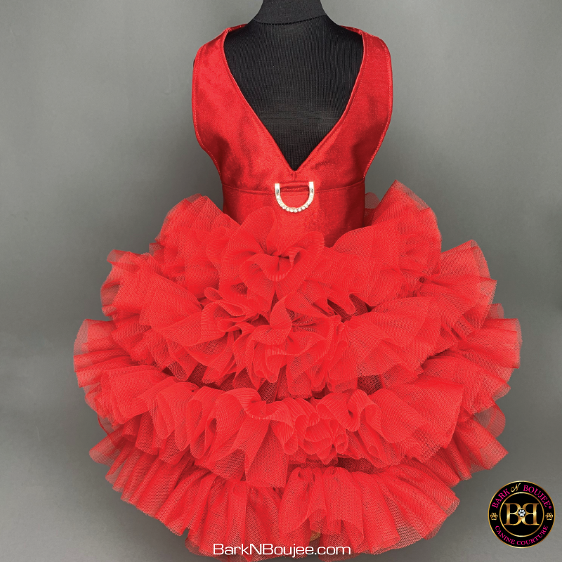 Sealed With A Kiss Red Dog Dress